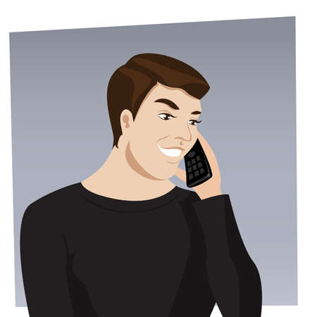 talking on the phone  Vector