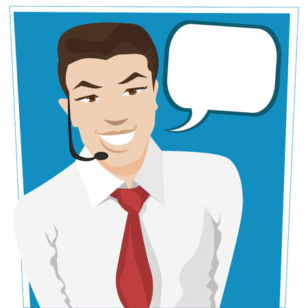 call center worker  Vector