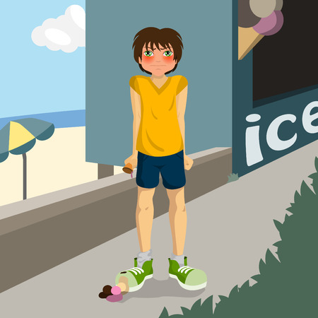 careless: careless boy  Illustration