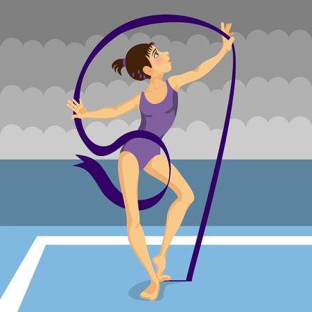 gymnast girl Stock Vector - 8717497