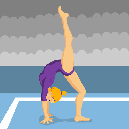 elasticity: gymnast girl