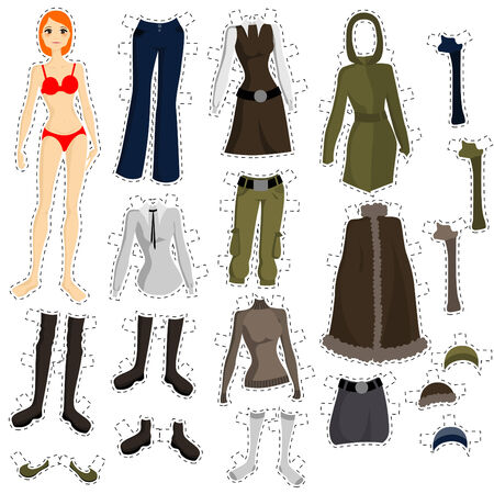 wear to doll set  Vector