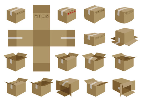 vector shipping box  Illustration