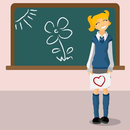 student girl Stock Vector - 8717942