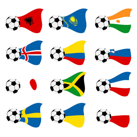 national soccer flags  Vector