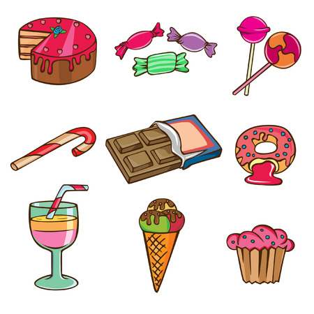 sweet icon set  Stock Vector - 8717470
