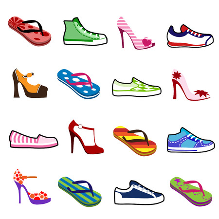 zapata: zapatos para hombre y mujer  Vectores