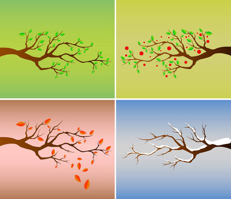 four season Stock Vector - 8817466