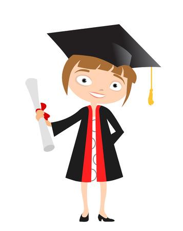 white robe: girl graduate