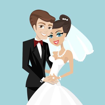 par de boda  Ilustración de vector