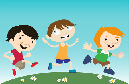 kids running Illustration