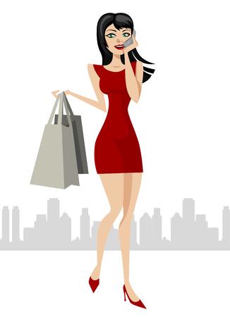 chica de compra  Foto de archivo - 8817418