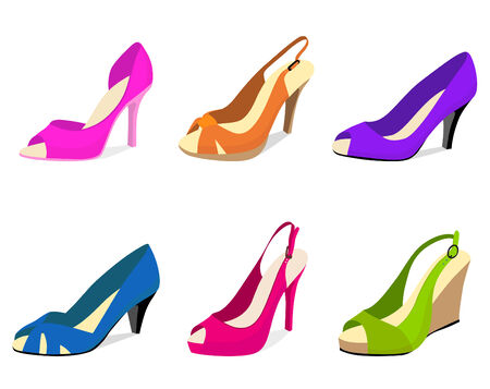 woman shoes vector  Vector