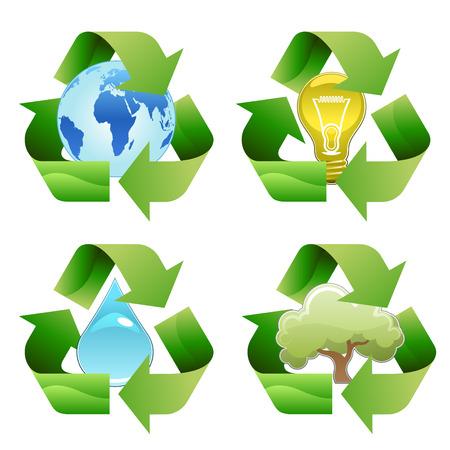 Recycling Symbole  Vektorgrafik