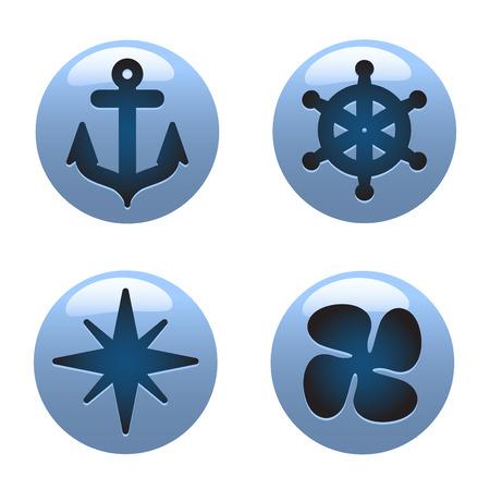 nautical icons Stock Vector - 8817520