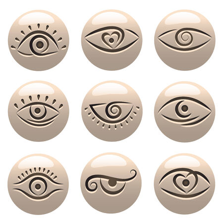 eye icons  Stock Vector - 8817533