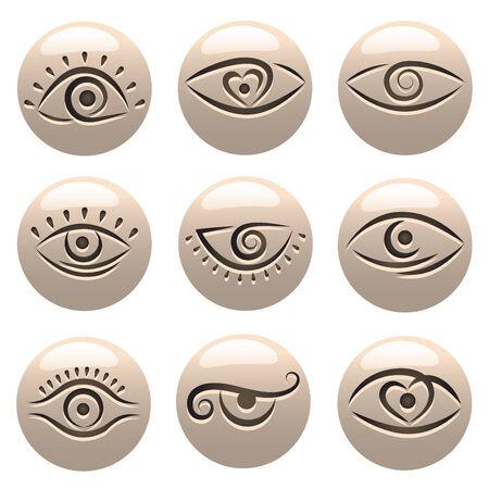 eye shadow: eye icons
