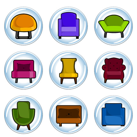 leather chair: furniture icon
