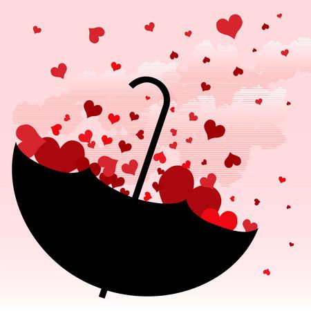 crimp: umbrella with love design