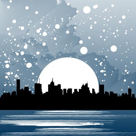 new moon: city  Illustration