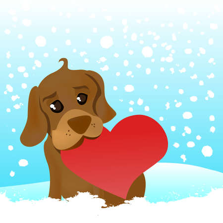 love dog  Stock Vector - 8817577