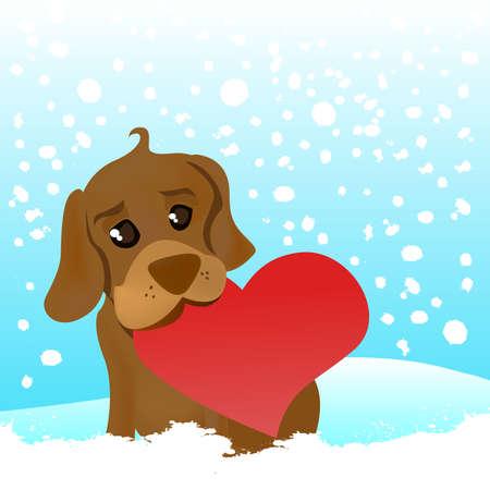 love dog Stock Vector - 8817577