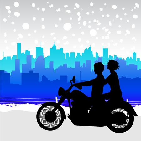 motorcyclist: viajes de motocicleta  Vectores
