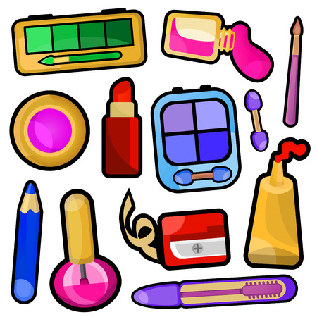 make up icons  Vector