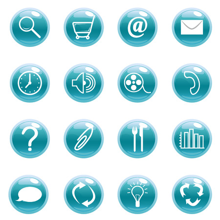 dispose: natural energy and recycling icon set  Illustration