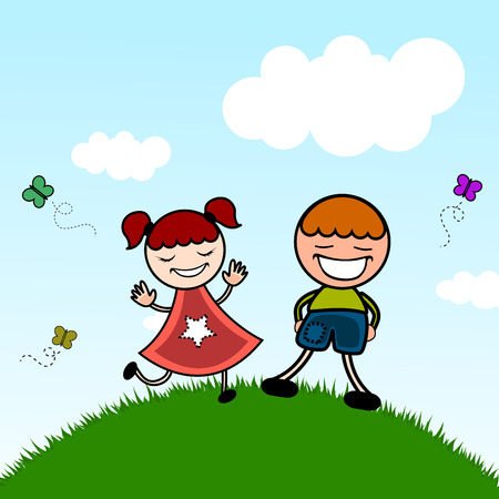 cute kids Stock Vector - 8940801