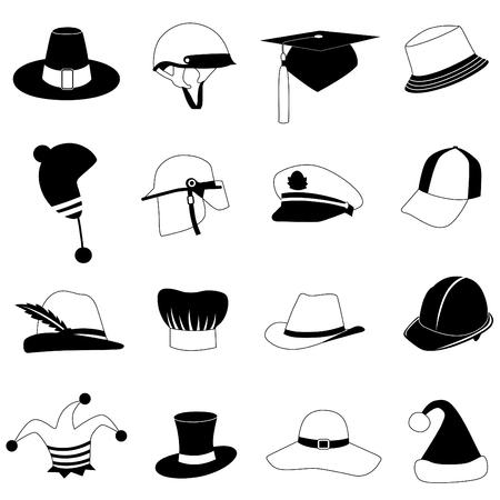 capitano: set cappello  Vettoriali