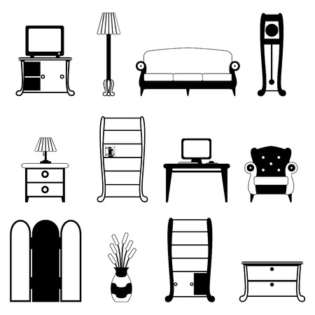 furniture objects Stock Vector - 8940834
