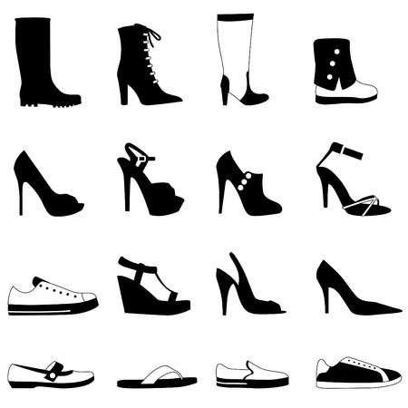 2 objects: fashion woman shoes
