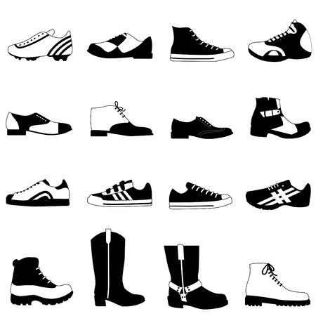 man shoes set  Illustration