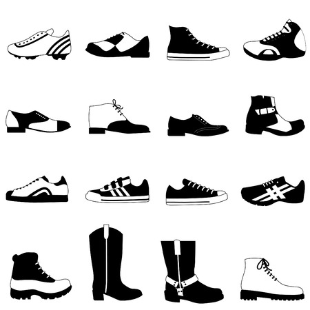 man shoes set  Illustration