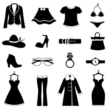 fashion jewelry: fashion icon set