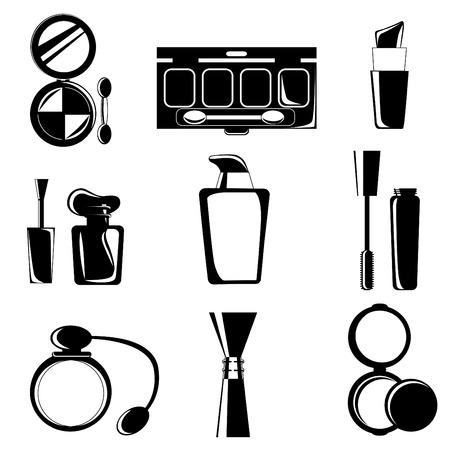 make up brush: conforman iconos
