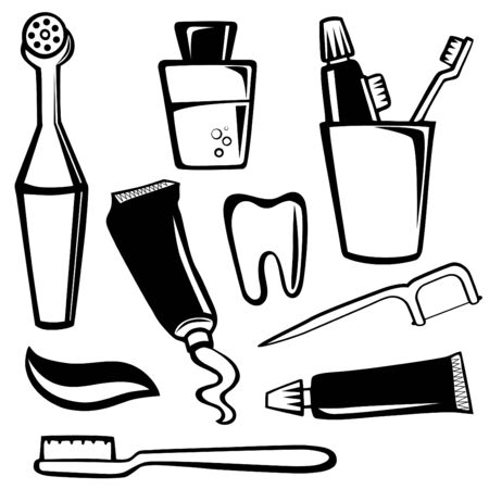 body care objects  Vector