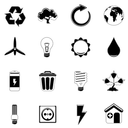 ecology and energy icon