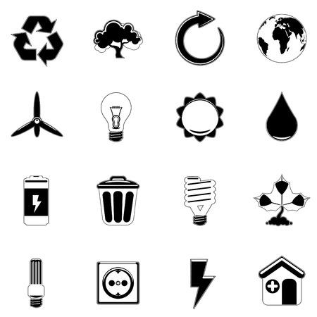 iconos energ�a: icono de Ecolog�a y energ�a