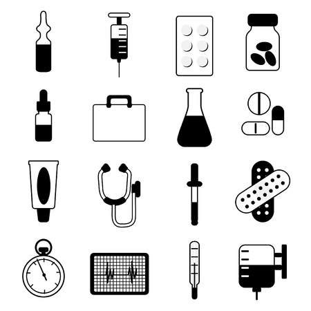 medical icon set Stock Vector - 8940851