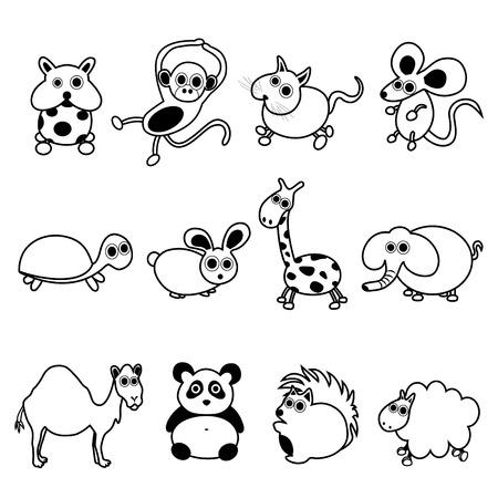 monkey cartoon: animales lindos