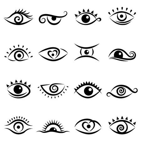 ojos verdes: conjunto de dise�os de ojo