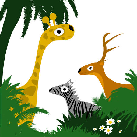 jungle cartoon: wild animals