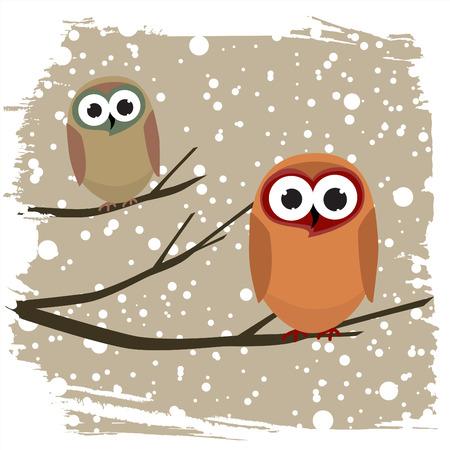 winter bird  Vector