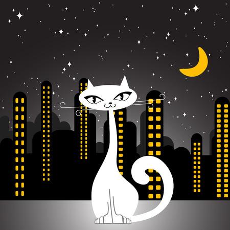 city cat  Vector