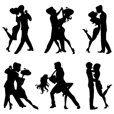 romantic dance  Vector