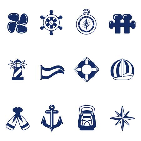 compas de dibujo: iconos de vela  Vectores