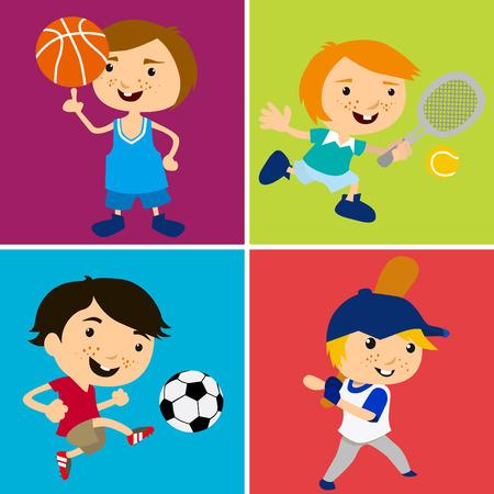 sport kids  Vector