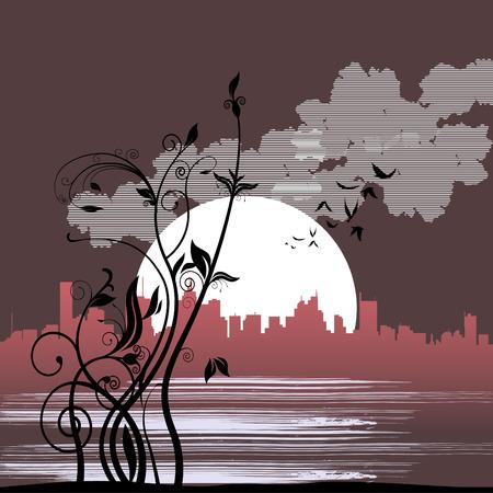 floral city  Illustration